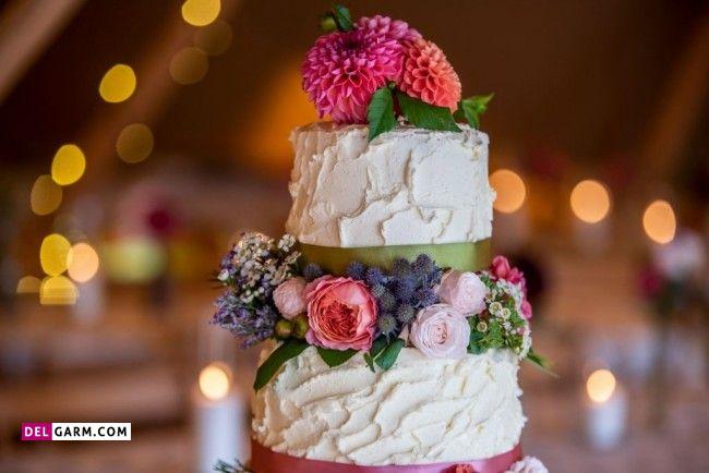 تزیین کیک دو طبقه