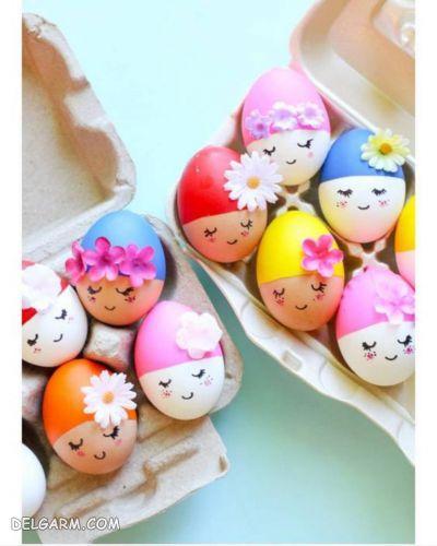 تزیین تخم مرغ هفت سین تزیین تخم مرغ هفت سین نوروز ۹۹ ب