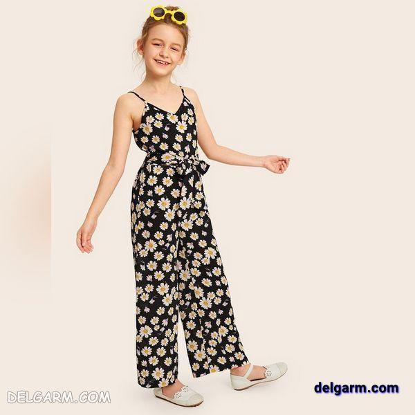 جدیدترین مدل لباس سرهمی بچه گانه دخترانه تاب مناسب تابستان