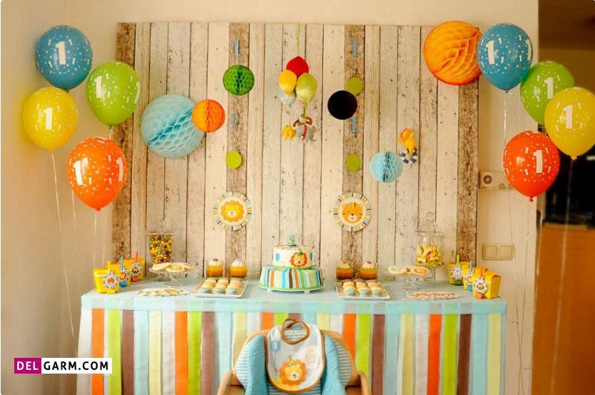 تزیین میز تولد ساده