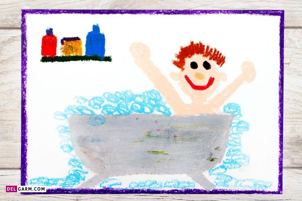 نقاشی بهداشت / نقاشی روز جهانی بهداشت / نقاشی بهداشت کودکانه