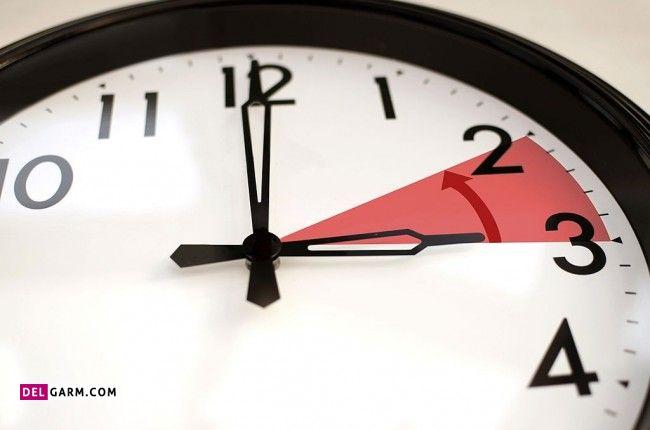 زمان عقب کشیدن ساعت در سال 1400