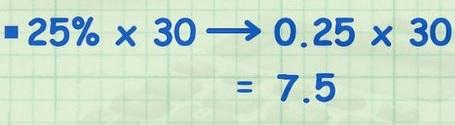 نحوه محاسبه درصد