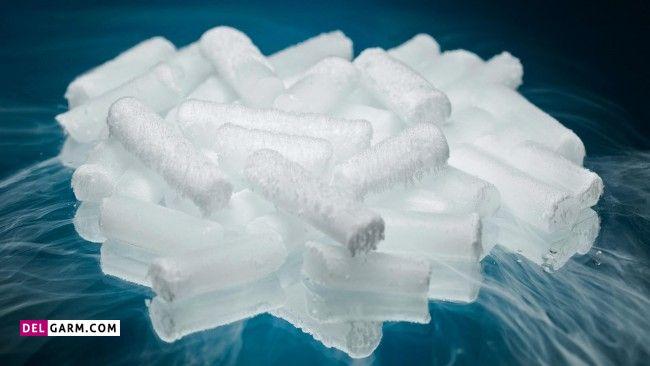 طرز تهیه یخ خشک