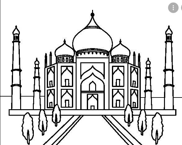 نقاشی مسجد / نقاشی مسجد برای کودکان