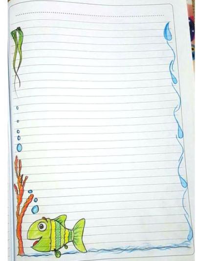 حاشیه دفتر مشق / نقاشی برای دفتر مشق / نقاشی برای دفتر املا