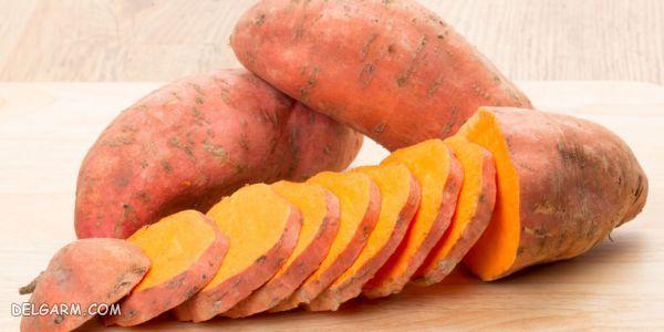 درمان گرفتگی عضلات در طب سنتی با سیب زمینی شیرین