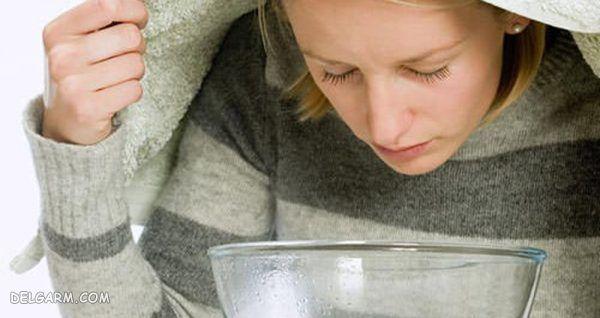 بخور دادن با سرکه سیب برای درمان عفونت سینوس
