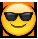 معنی ایموجی ها | معنی ایموجی با عینک آفتابی