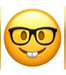 معنی ایموجی ها | معنی ایموجی با عینک و دندان خرگوشی