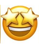 معنی ایموجی صورت خندان با چشمان ستاره شکل