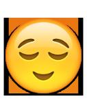 معنی ایموجی چهره آرامش یافته معنی ایموجی ها |