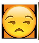 معنی ایموجی ها | معنی ایموجی چهره ای که خوشحال نیست