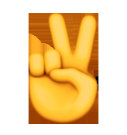 معنی ایموجی ها | معنی ایموجی دست با علامت پیروزی