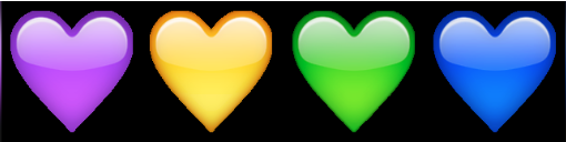 معنی ایموجی ها | معنی ایموجی قلب های رنگی