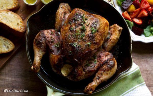 پخت مرغ در فر