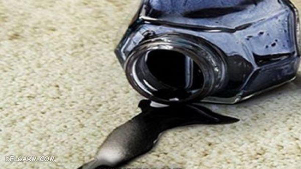 پاک کردن لکه جوهر با استون یا لاک پاک کن