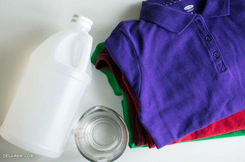 تهیه نرم کننده لباس خانگی با سرکه سفید