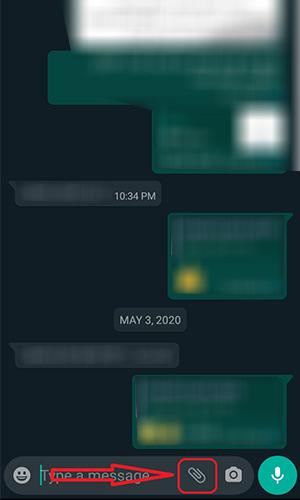 ارسال عکس به صورت فایل در واتساپ