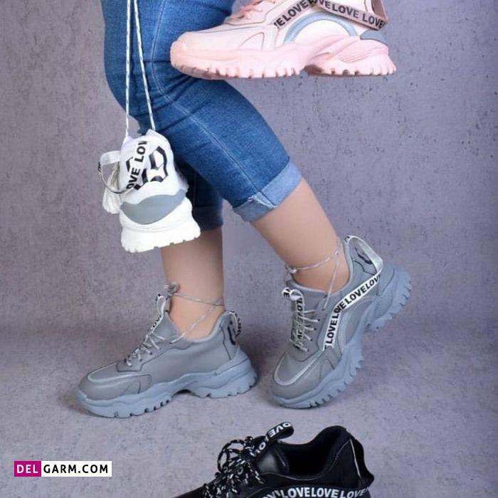 عکس کفش اسپرت دخترانه 2021 ، کفش اسپرت دخترانه مشکی 2021