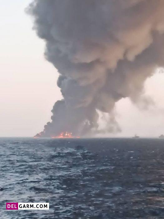 آتش سوزی ناو خارک