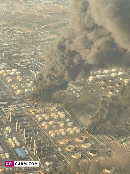 علت آتش سوزی پالایشگاه تهران