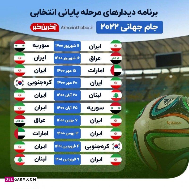 بازی های ایران در انتخابی جام جهانی