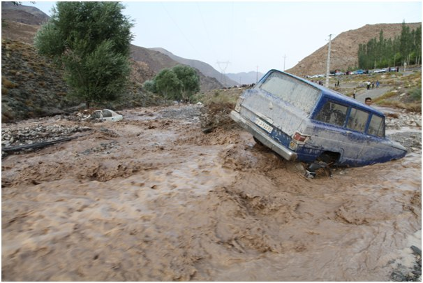 سیل در کرمان امروز