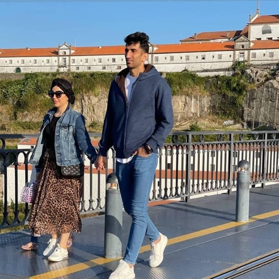 بیرانوند و همسرش در پرتغال