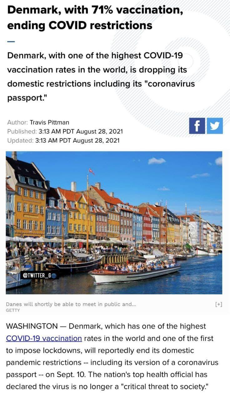 واکسیناسیون کرونا در دانمارک