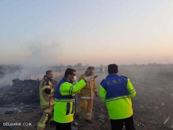 سقوط یک هواپیمای مسافربری در نزدیکی فرودگاه امام + فیلم