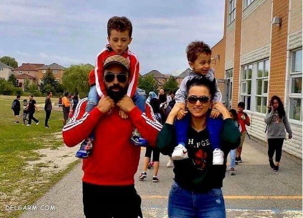 روناک یونسی و  همسرش به همراه فرزندان