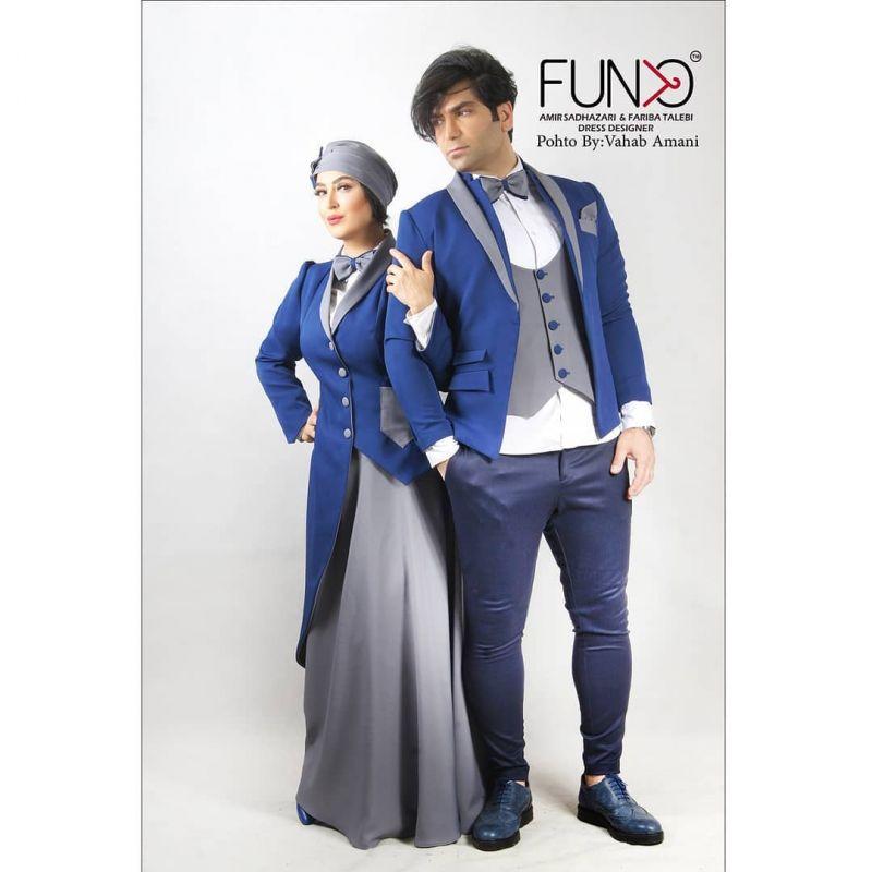 عکس های تبلیغاتی فریبا طالبی و همسرش