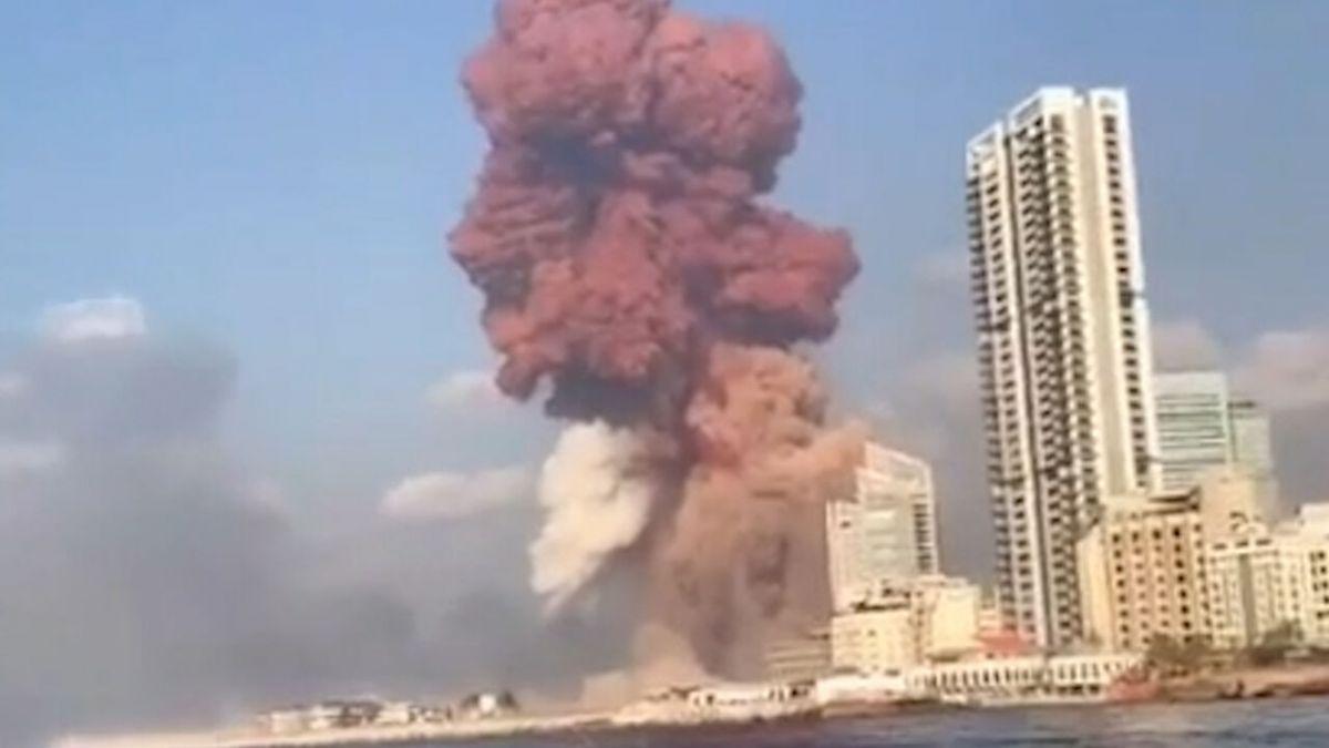 عکس های انفجار بیروت