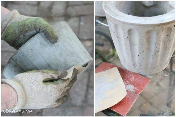 آموزش تصویری جهت ساخت گلدان سیمانی