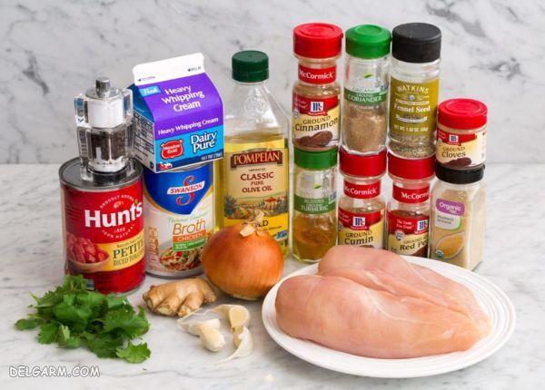 طرز تهیه خورش کاری مرغ و ادویه مخصوص آن