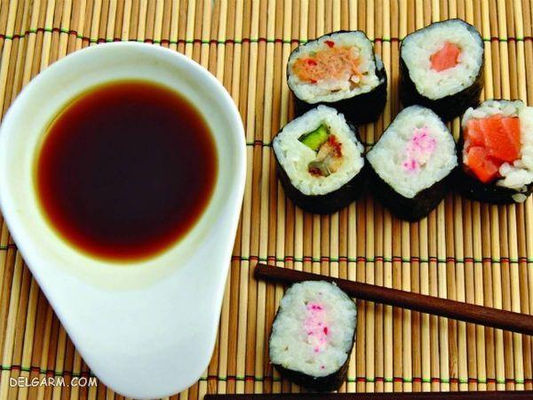 طرز تهیه انواع سس برای سرو با سوشی
