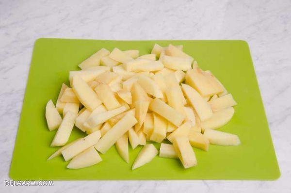 روش هایی برای  نگهداری سیب زمینی خرد شده