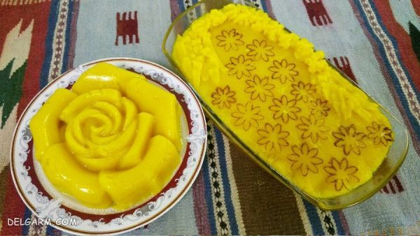 طرز تهیه شله زرد قالبی دسر ماه رمضان