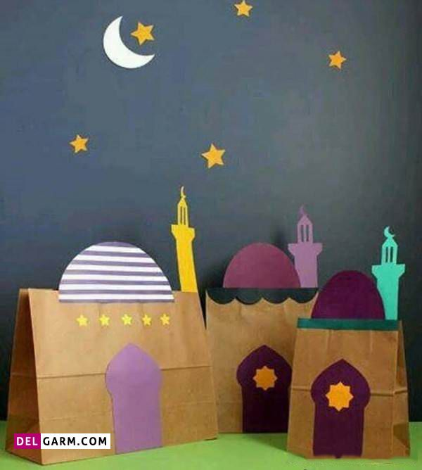 کاردستی ماه رمضان با مقوا برای بچه ها