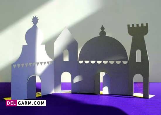 کاردستی جذاب مسجد با مقوا برای ماه رمضان