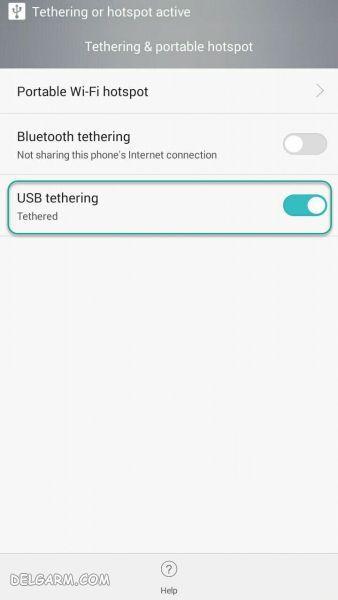 اتصال اینترنت گوشی به کامپیوتر