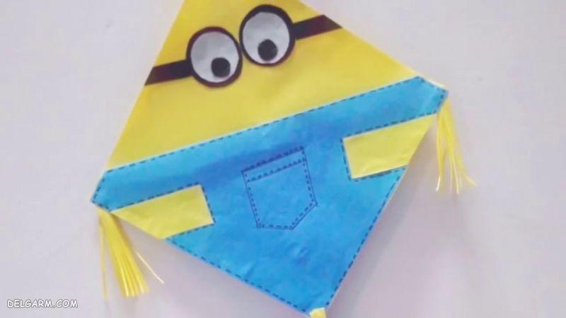 درست کردن بادبادک با پلاستیک - چگونه بادبادک هوا کنیم - کاردستی بادبادک با ماکارونی - ساخت بادبادک اوریگامی