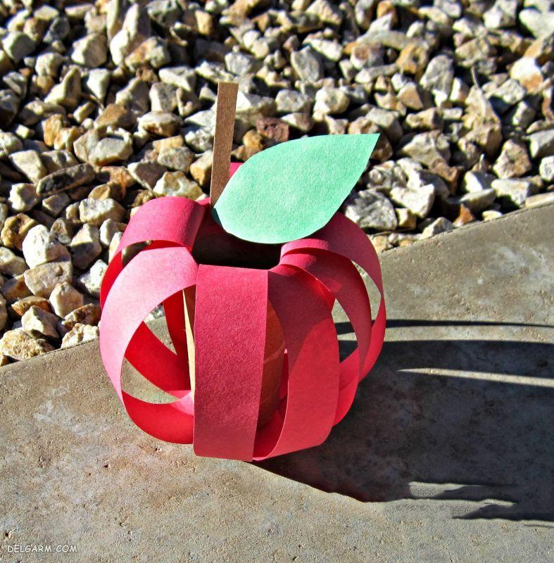 Making apple ribbon crafts