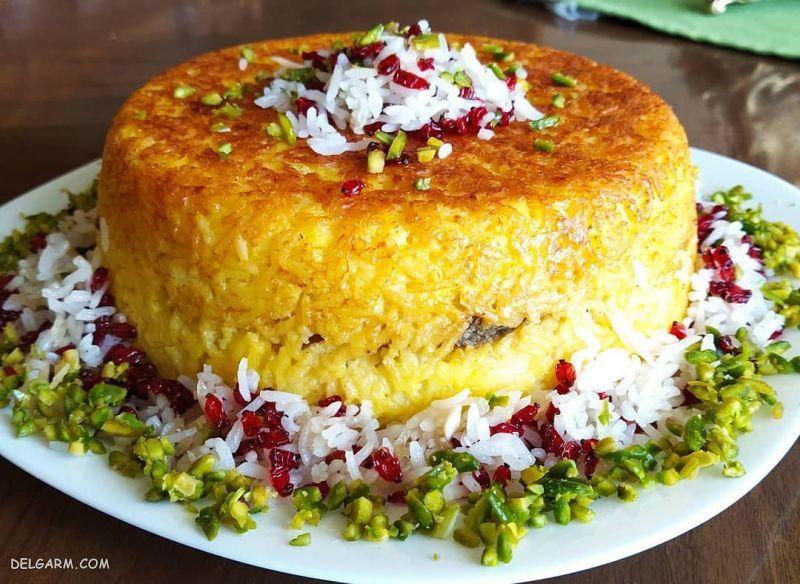 غذای شب عید: سبزی پلو با ماهی و ته چین