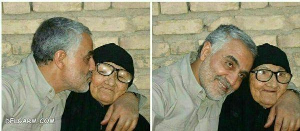 شهید قاسم سلیمانی و مادرش