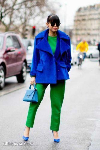 لباس آبی را با چه رنگ لباسی ست کنیم ؟ | ست کردن لباس سبز و آبی کلاسیک