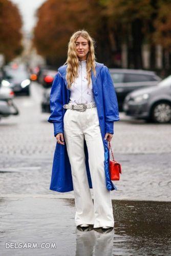 لباس آبی را با چه رنگ لباسی ست کنیم ؟  | مانتو آبی را با چه رنگی ست کنیم؟ | ست آبی کلاسیک و سفید