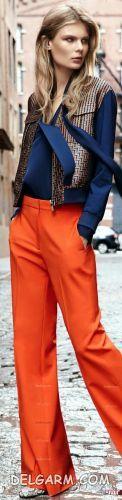 ست رنگ آبی کلاسیک و نارنجی