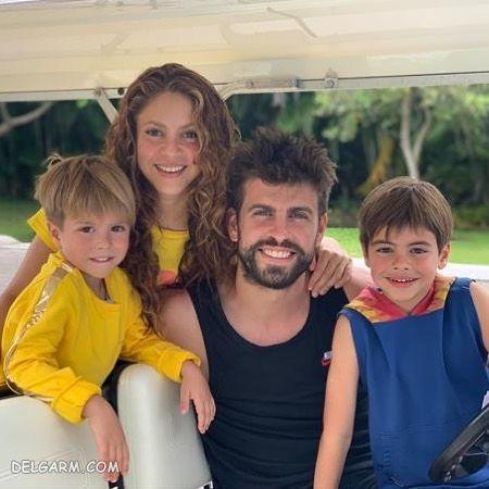 عکس خانوادگی پیکه و شکیرا